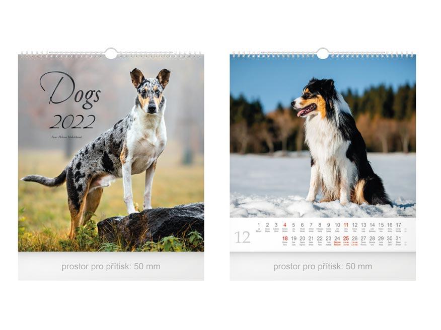 kalendár 2022 nástenný malý Dogs 1061251