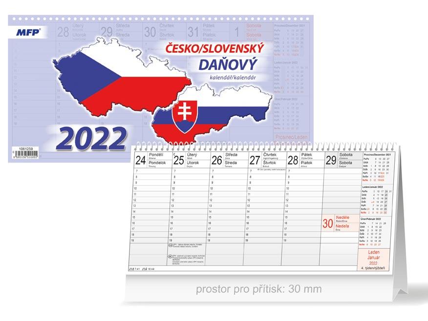 kalendár 2022 stolní Česko/slovenský 1061259