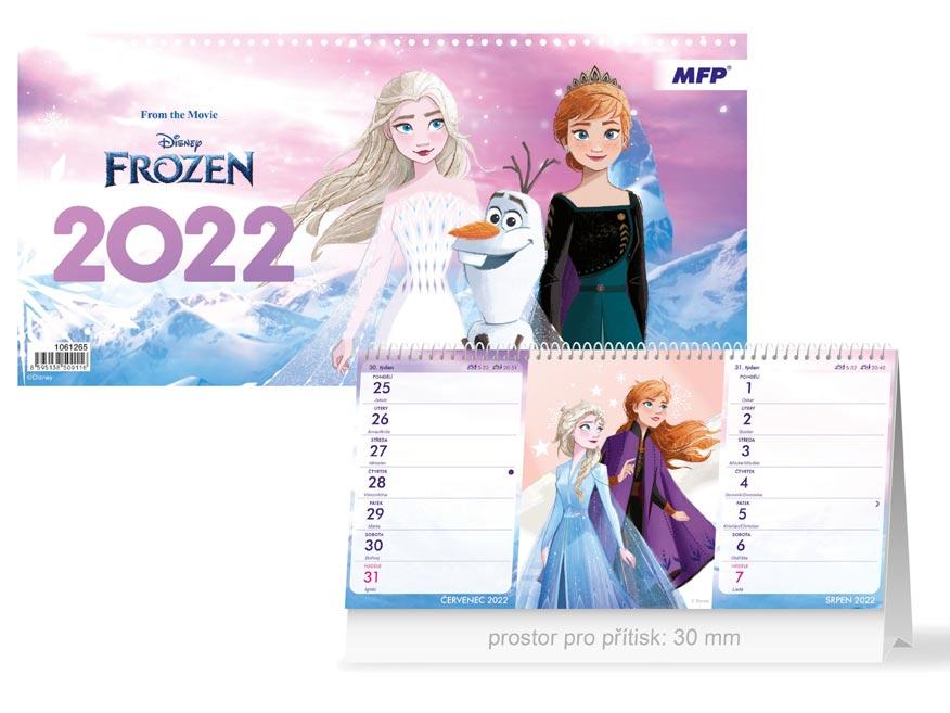 kalendár 2022 stolní DISNEY Frozen (Štrnásťdenný) 1061265