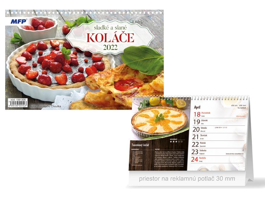 sK Kalendár 2022 stolový Sladké a slané koláče 1061308