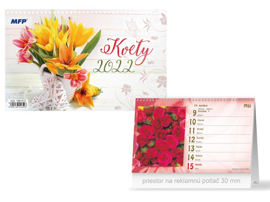 sK Kalendár 2022 stolový Kvety 1061313