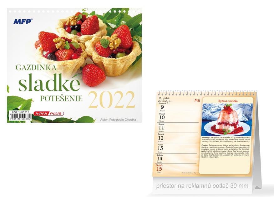 sK Kalendár 2022 stolový mini Gazdinka - sladké potešenie 1061317