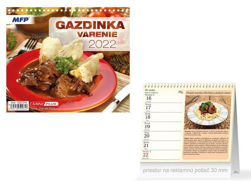 sK Kalendár 2022 stolový mini Gazdinka - varenie 1061318