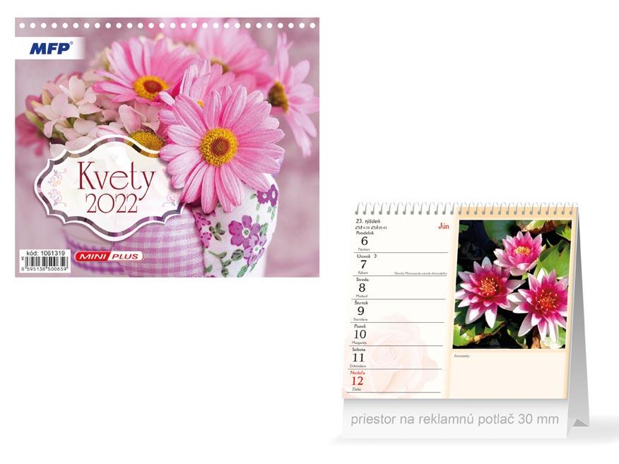 sK Kalendár 2022 stolový mini Kvety 1061319