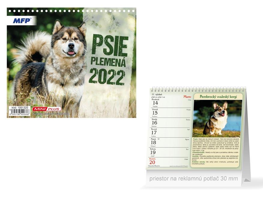 sK Kalendár 2022 stolový mini Psie plemená 1061320