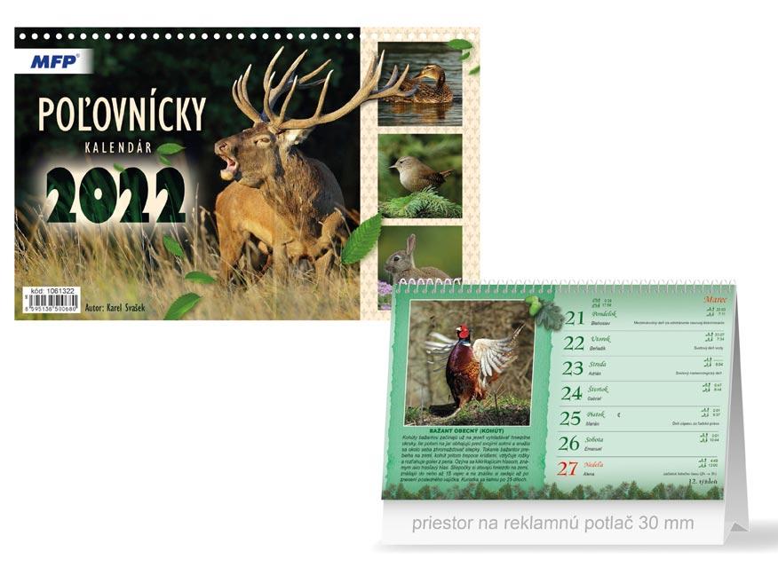 sK Kalendár 2022 stolový Poľovnícky 1061322