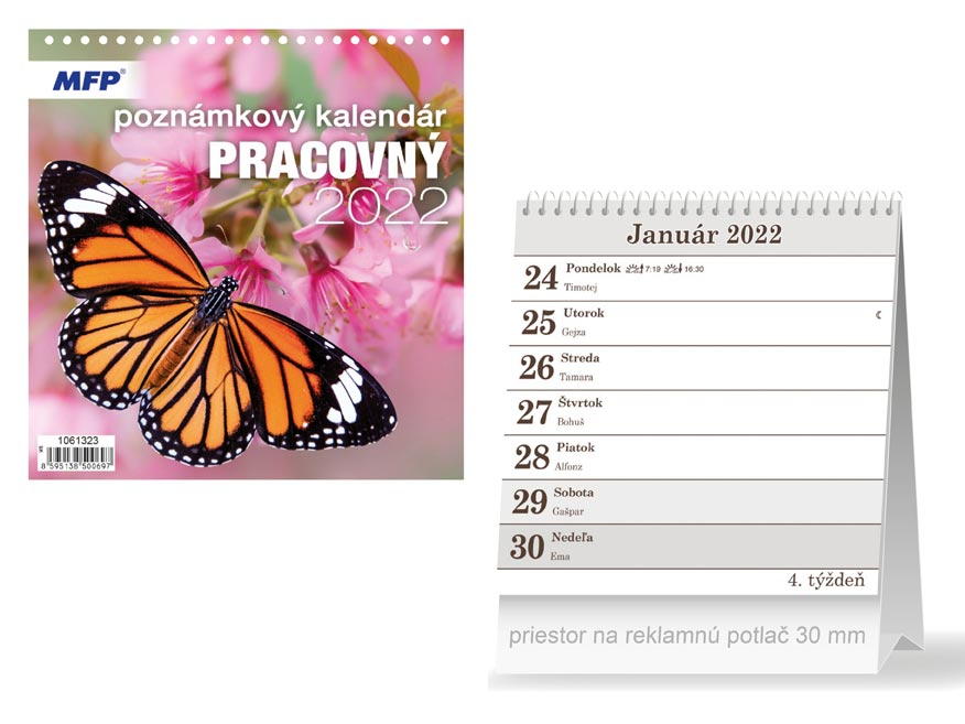 sK Kalendár 2022 stolový Pracovný - poznámkový 1061323