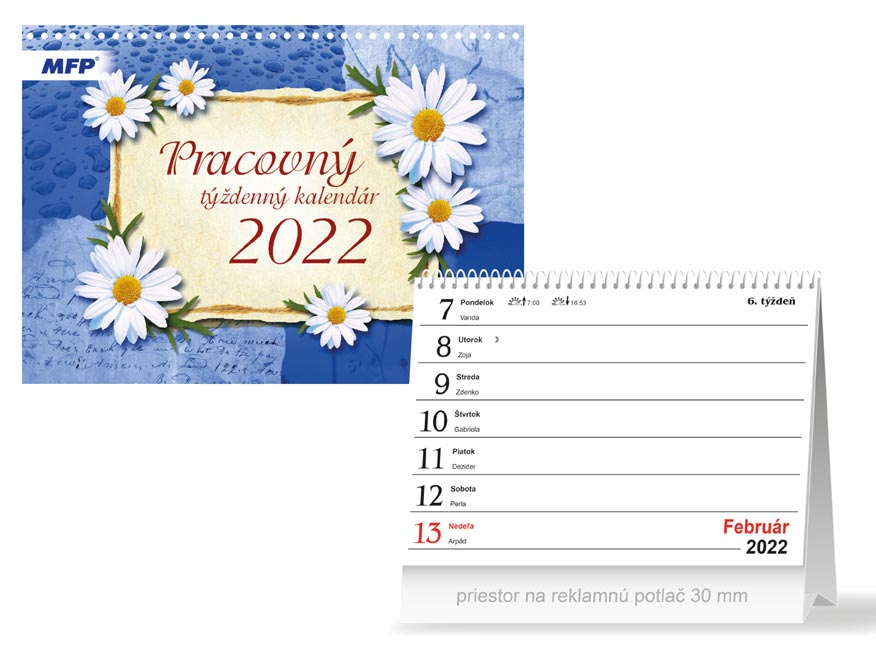 sK Kalendár 2022 stolový Pracovný - týždenný 1061326