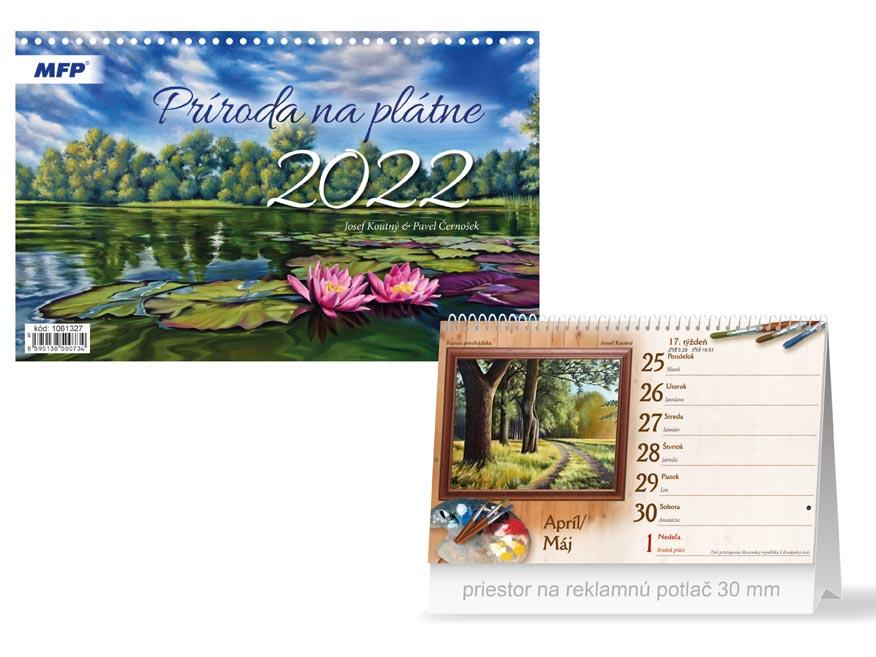 sK Kalendár 2022 stolový Príroda na plátne 1061327