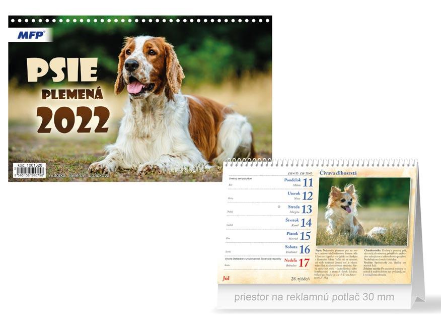sK Kalendár 2022 stolový Psie plemená 1061328