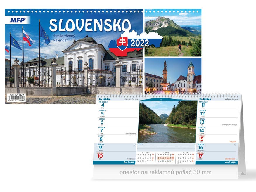 sK Kalendár 2022 stolový Slovensko (štrnásťdenný) 1061329