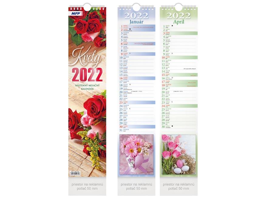 sK Kalendár 2022 viazankový Kvety - mesačný 1061332