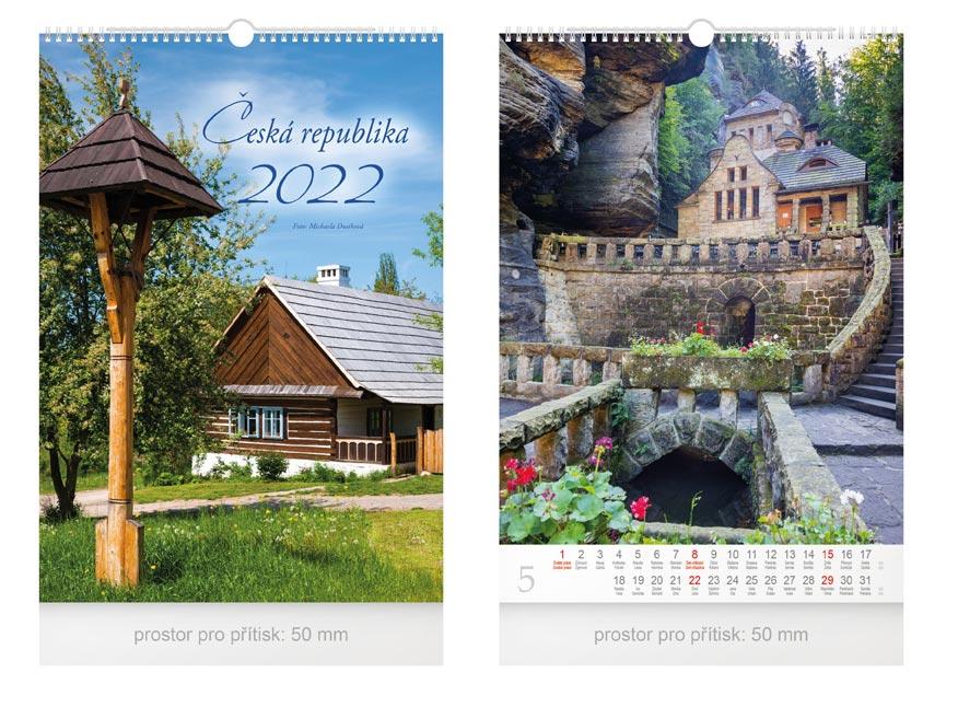 kalendář 2022 nástěnný Česká republika 1061334