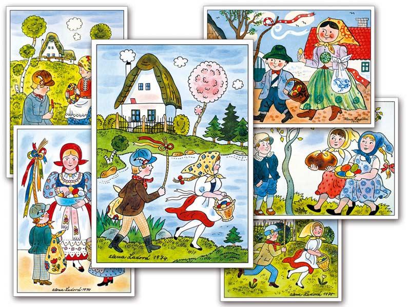 sK Pohľadnica Veľká noc Ladová (100) 1140026