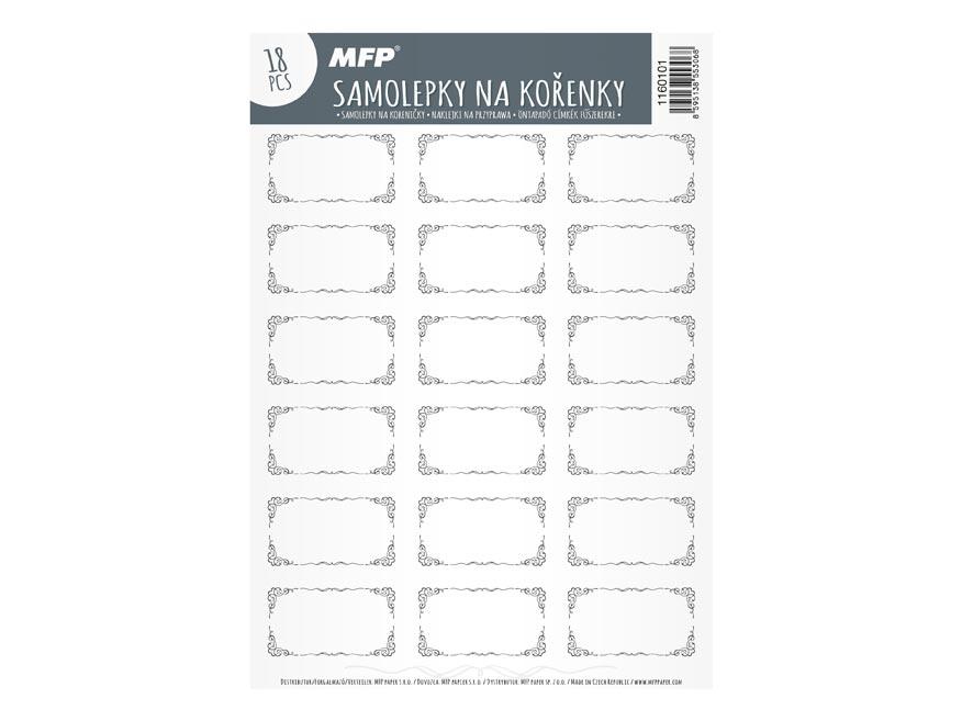 Samolepky na koreničky MFP 15,4x22,5cm čisté