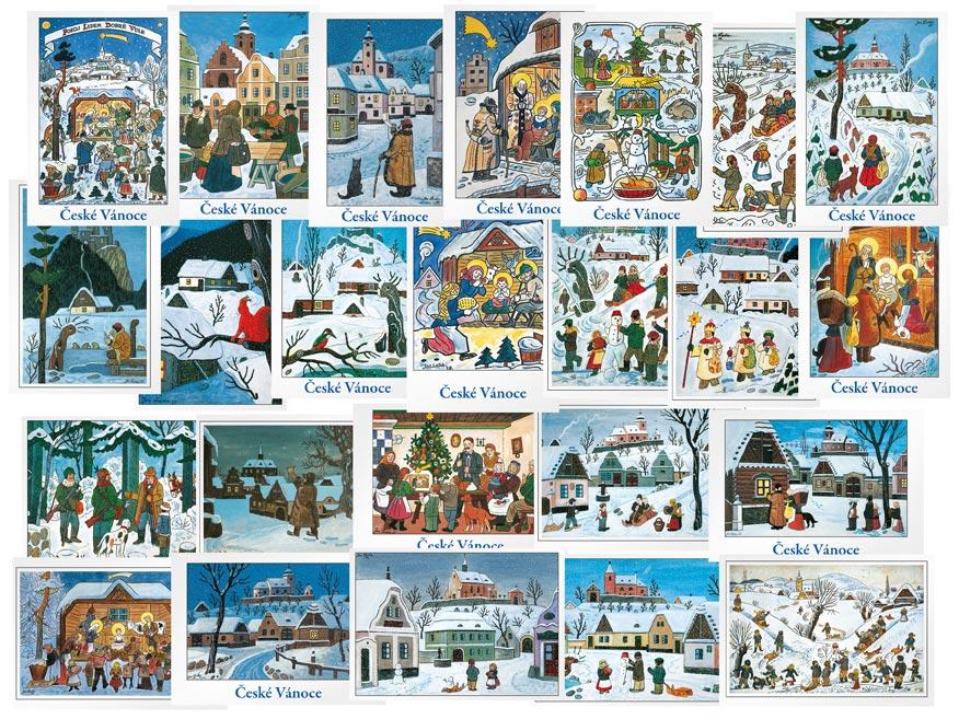 pohľadnica vianočná Jozef Lada (50) 1170111