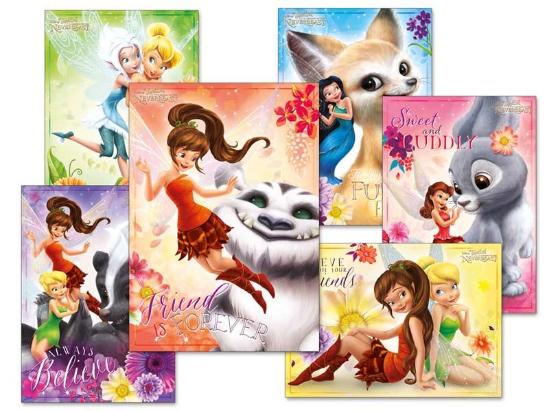 Pohľadnica srdečná Y015 F Disney (Fairies) UV