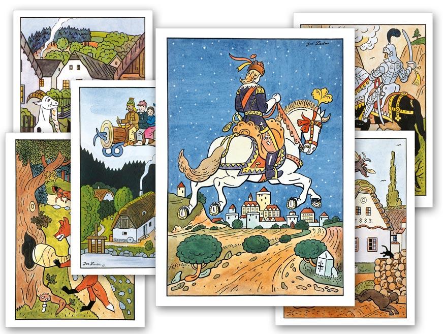 pohľadnica rozprávky - Josef Lada 1230321