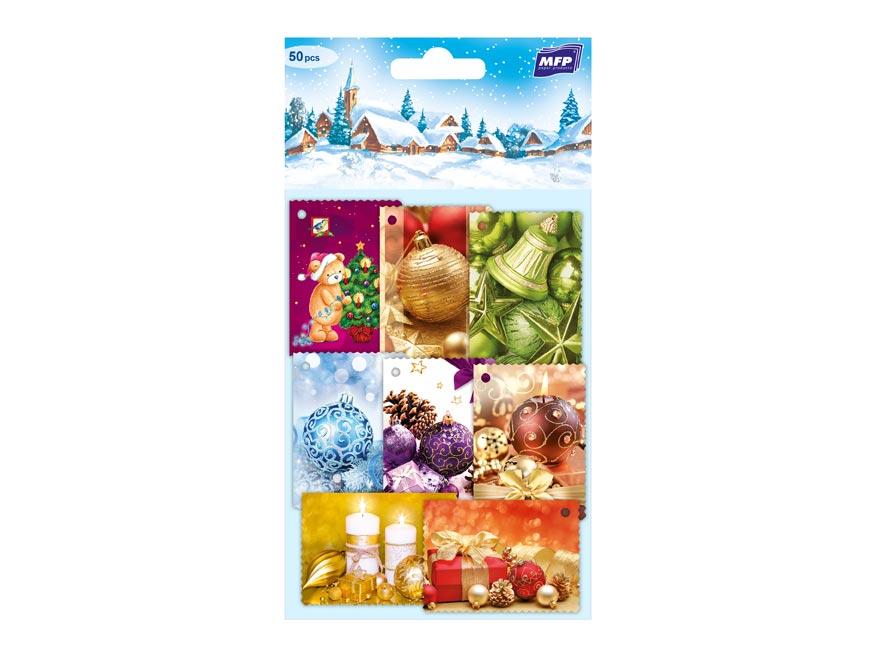 menovky na darčeky vianočné  50ks 1240505