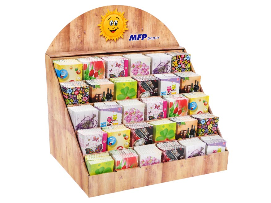 MFP 1240511 menovky na darčeky srdečné 900ks stojanček