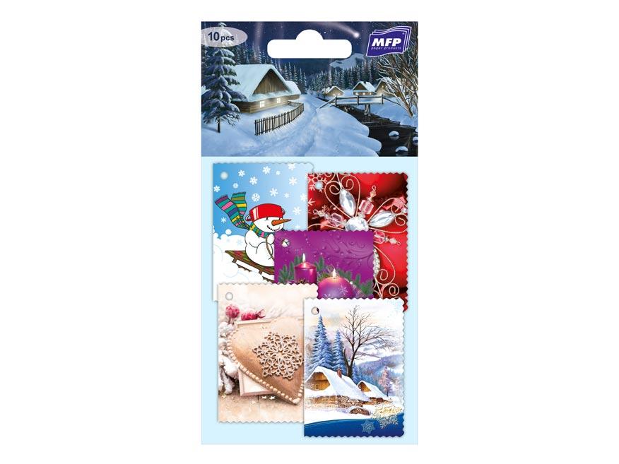 menovky na darčeky vianočné  10ks 1240521