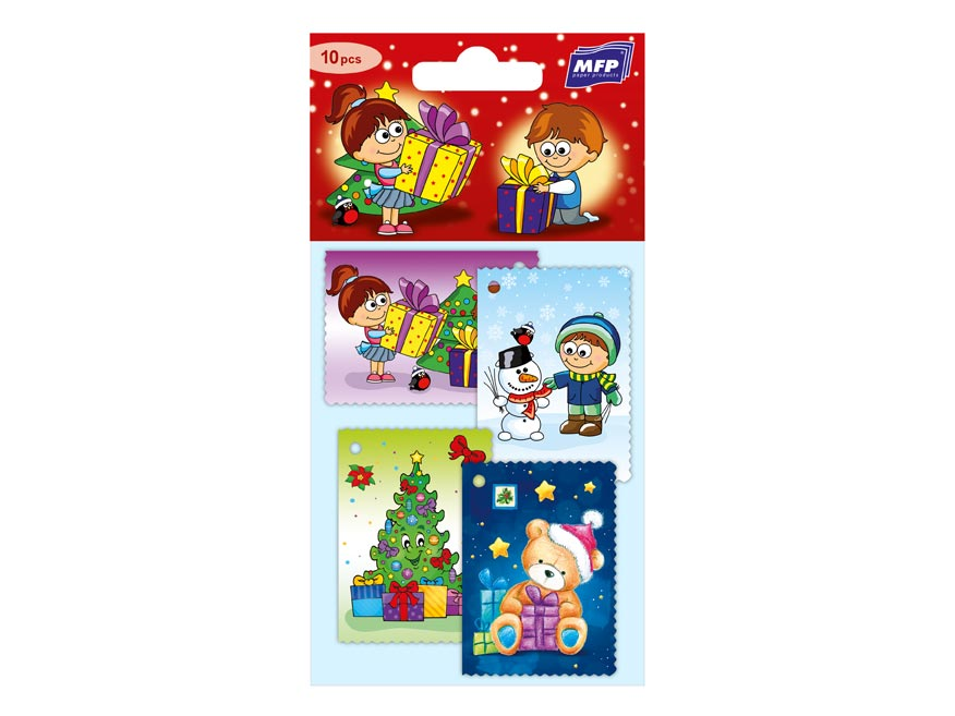 Menovky na darčeky vianočné  10ks Detské