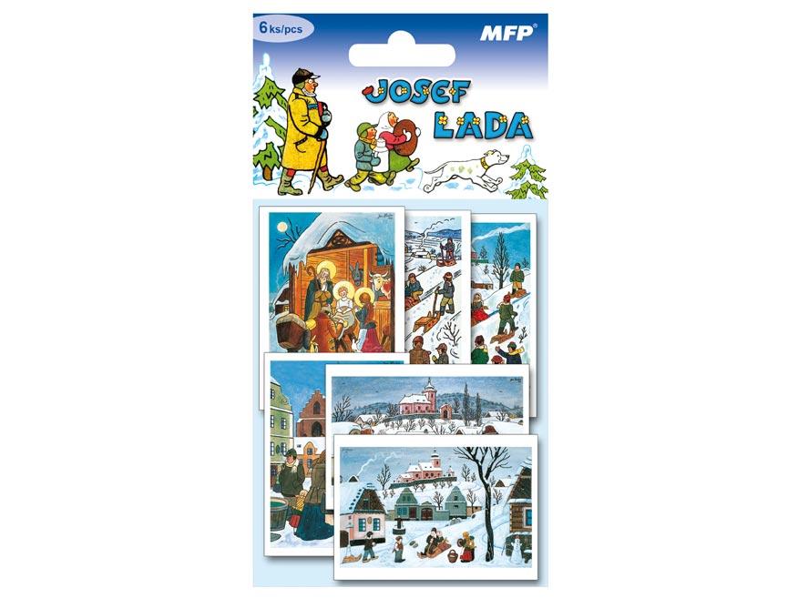 menovky na darčeky - Josef Lada (6ks) 1240542