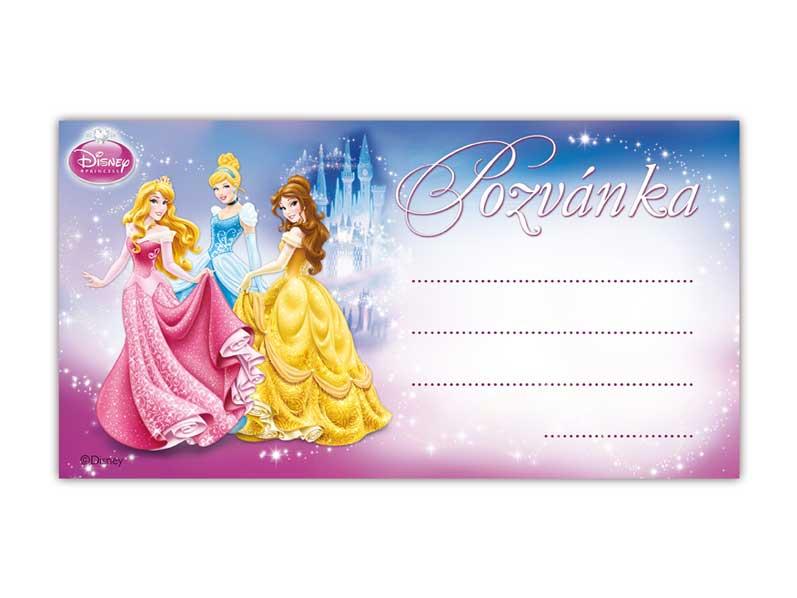 Pozvánka Y01 Disney Princess (10ks) (190x100mm)