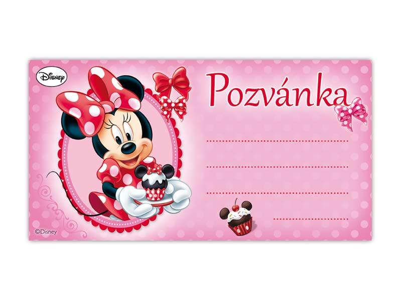 Pozvánka Y08 Minnie (10ks) (190x100mm)