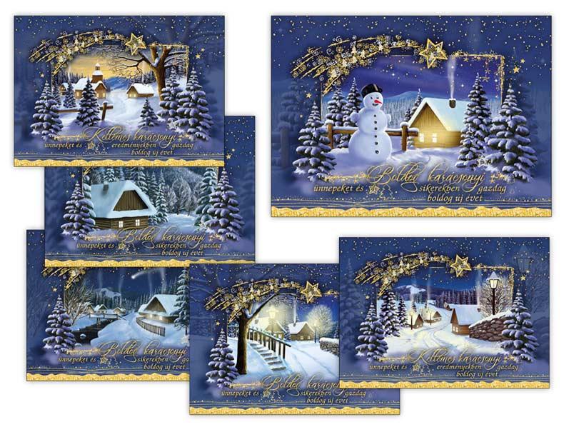 Képeslap, karácsonyi 120 A