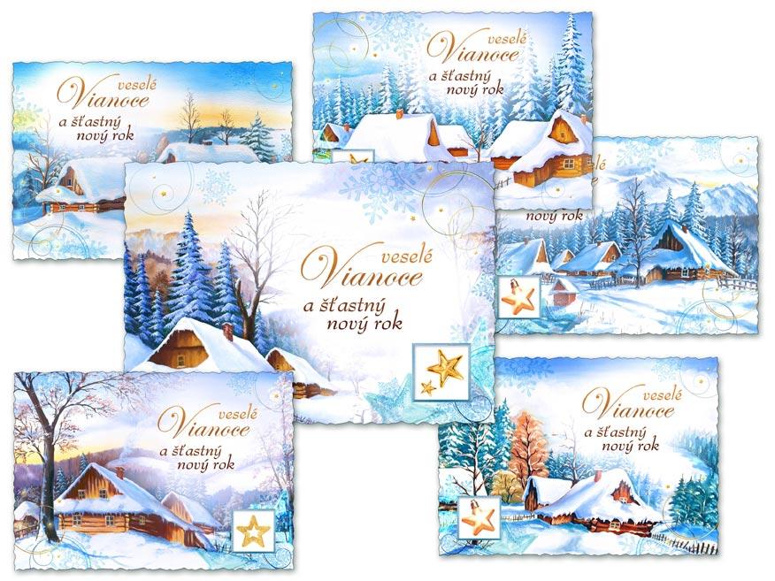 SK Pohľadnica vianočná m 134 d výsek+UV