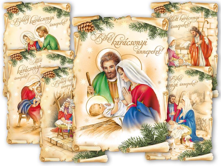 Képeslap, karácsonyi 139 C, díszes szegély