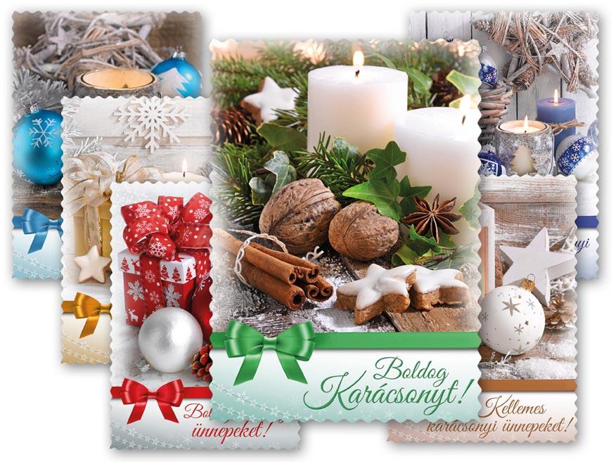 képeslap, karácsonyi 141 D, díszes szegély + UV 1240781