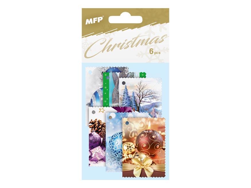 Menovky na darčeky vianočné 6ks