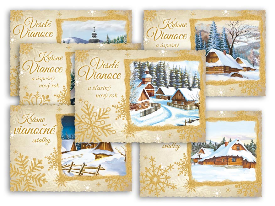 SK Pohľadnica vianočná m 150 C výsek