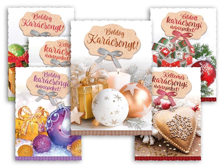 Képeslap, karácsonyi 144 C výsek