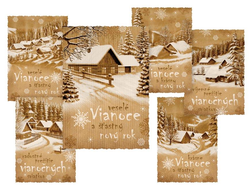 sK Pohľadnica vianočná m 154 C výsek 1240815