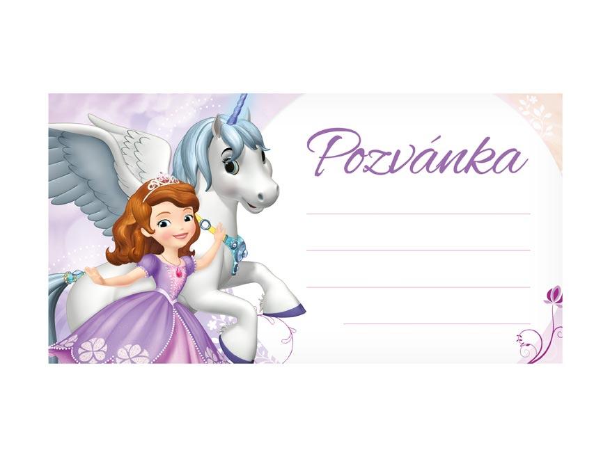 pozvánka Y16 Disney Sofia the First (10ks) (190x100mm) 1240827