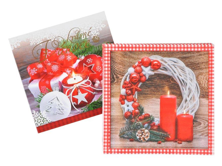 set blahoželanie vianočné +  vianočné obrúsky 1240829
