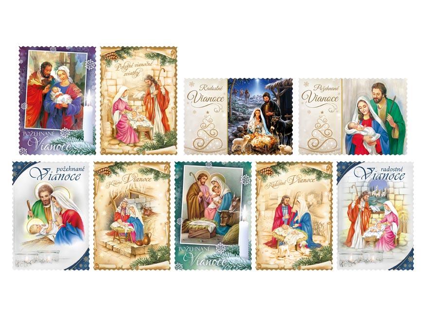 sK Pohľadnica vianočná LUX náboženské 004 1240833