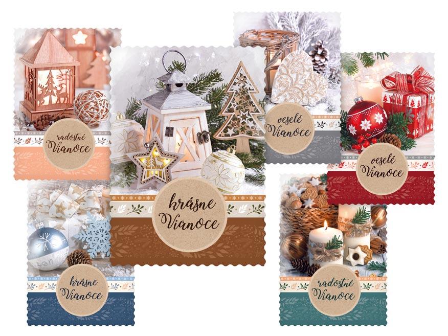 sK Pohľadnica vianočná m 158 D výsek+UV 1240841