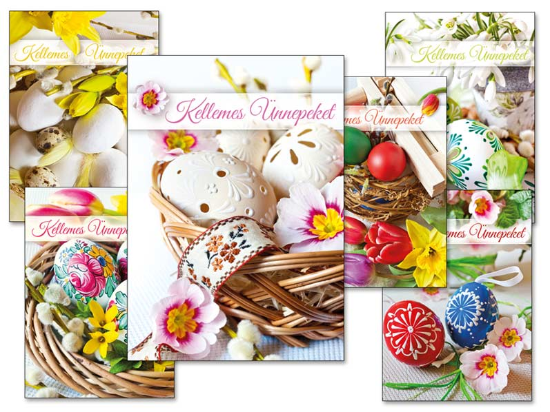 Képeslap húsvéti 098 A