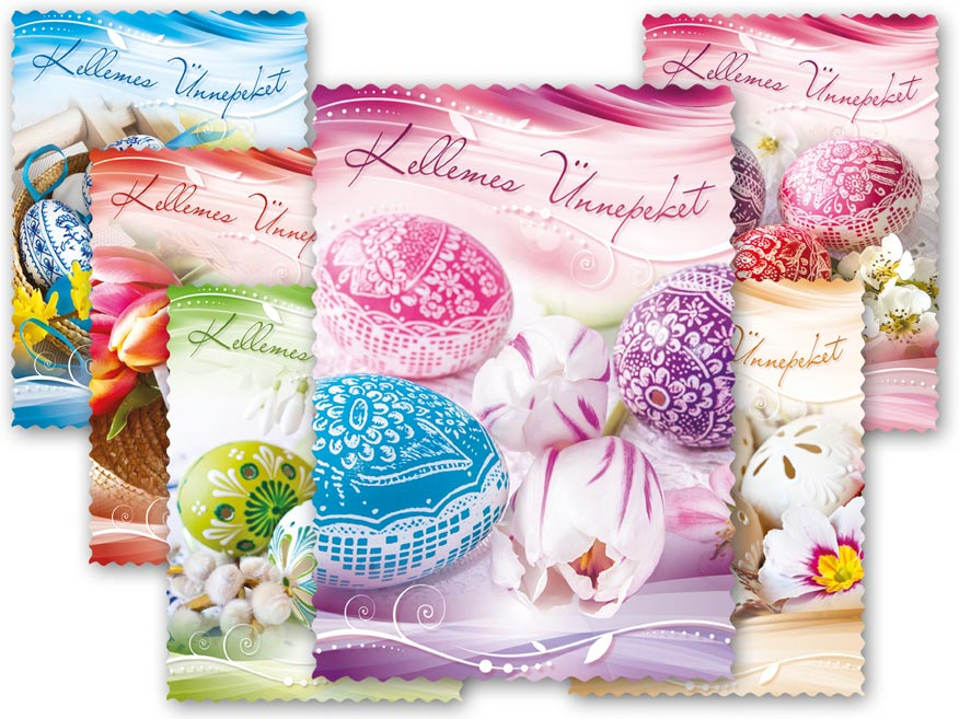 Képeslap húsvéti 101 C díszes szegély