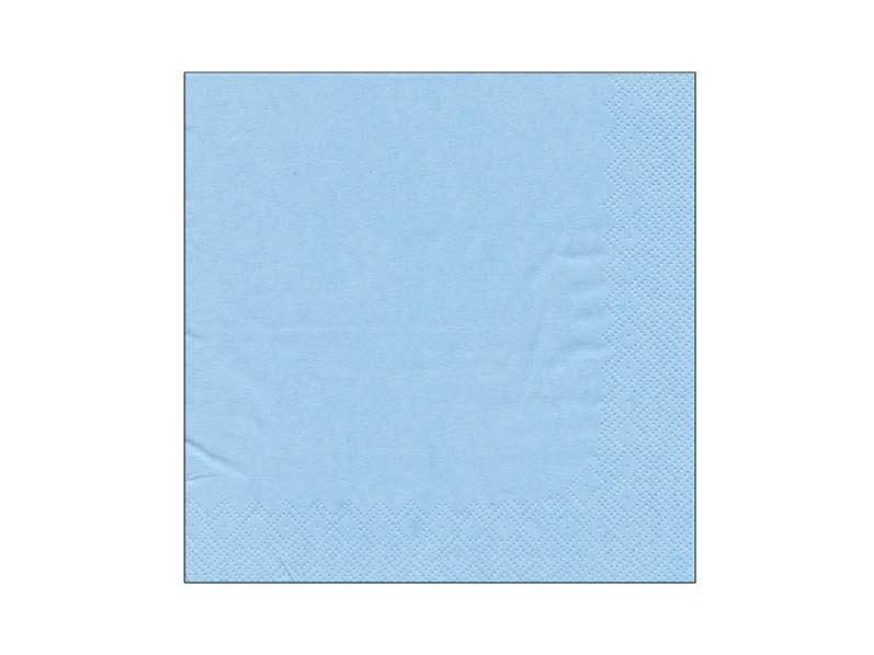 Obrúsok jednofarebný LIGHT BLUE 104 33x33