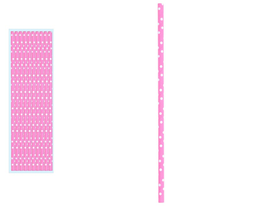 Papierové slamky 870939 10ks 19,5cm