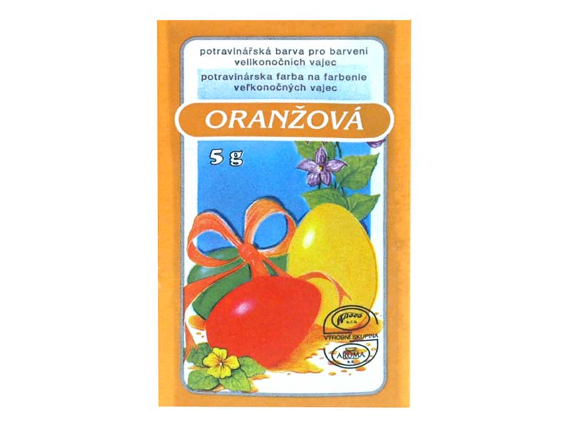 Veľkonočné farby na vajíčka 701 oranžová 5g