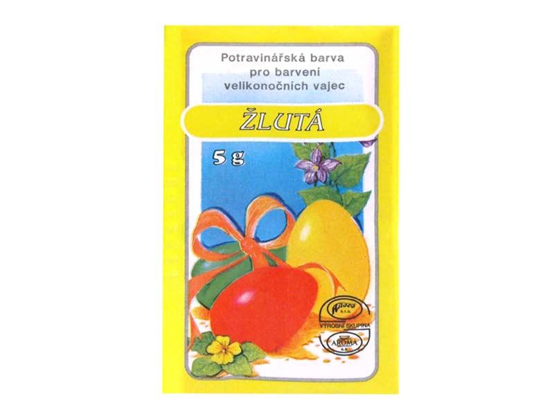 Veľkonočné farby na vajíčka 701 žltá 5g
