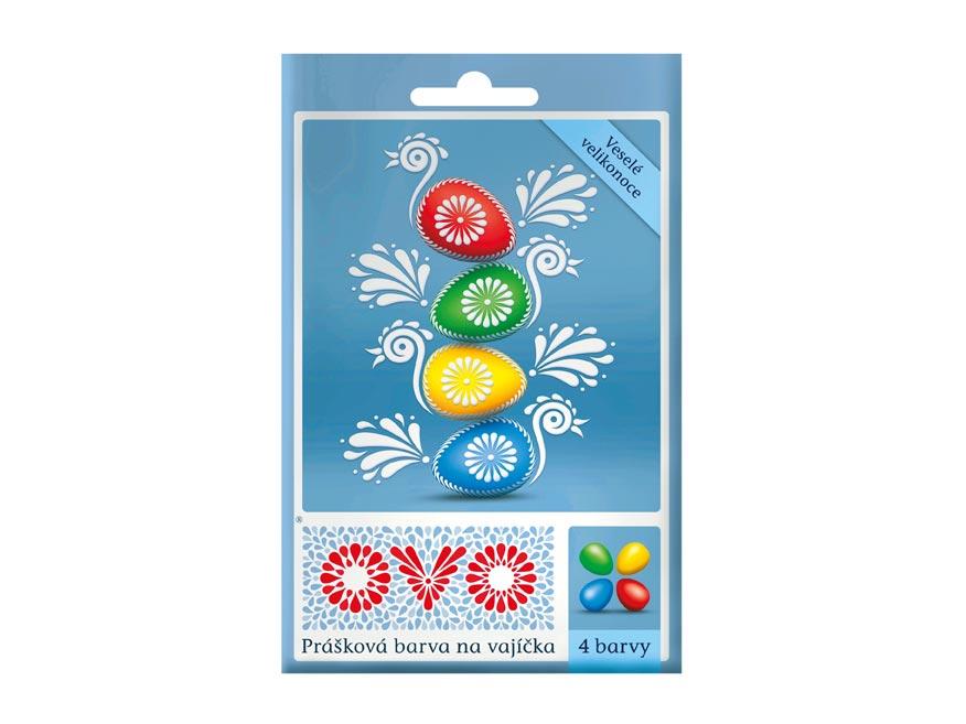 Veľkonočné farby na vajíčka OVO 4 farby 5g