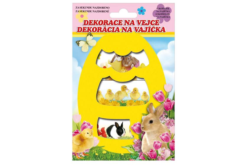 Veľkonočné obtlačky na vajíčka košieľka 779 - živé zvieratká