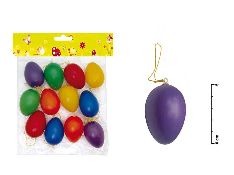 vajíčka plast jednofar.6cm 12ks mix S32085 2221007